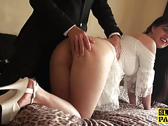 Brit   lashed and spanked