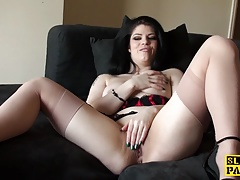 Solo uk whore massaging her..