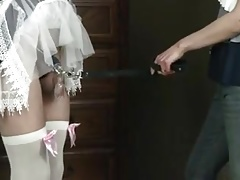 Chastised spouse maid abased..