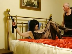 Unshaved granny slave training