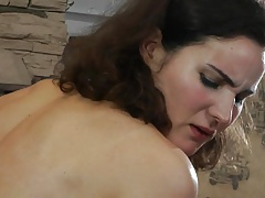 Slave chick whipped and..