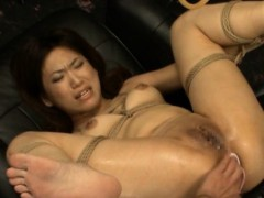 Cute oriental  gets fucktoys..