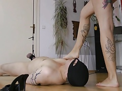 Super hot mistress cock ball..