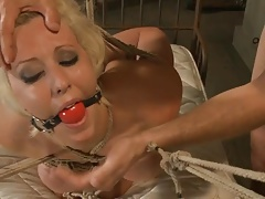 Bound and ball-gagged..