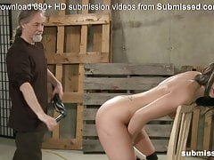 Teen gets her booty spanked..