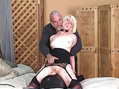 gets on dildo and mistress..