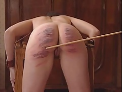 Another superb caning...