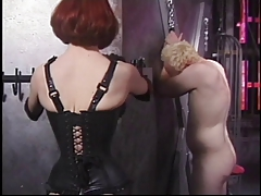 Ginger dominatrix lashing..