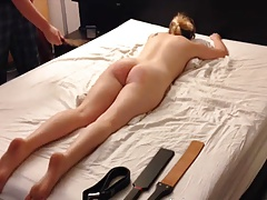 blonde  smacking session,..