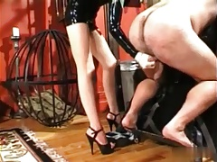 Asian Mistress Squeezing Balls