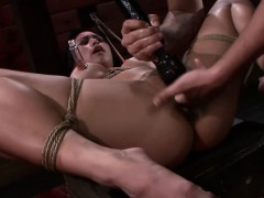 Throat romped and bound asian