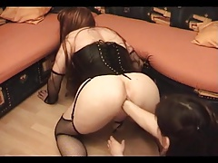 Sissy sub got fisted by