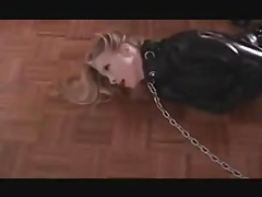 in straitjacket, chained,..